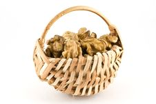 Free Walnuts In A Wicker Basket Royalty Free Stock Photo - 16799485
