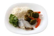 Free Boiled Swordfish With Rice Stock Photography - 16799522