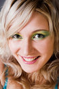 Free Beautiful Young Woman With Green Eyes Smiling Stock Photo - 1682100