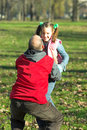 Free Little Pretty Child Happy Running To Father Royalty Free Stock Photography - 1684817