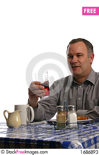 Free Man In Diner Having Lunch Stock Photos - 1686893