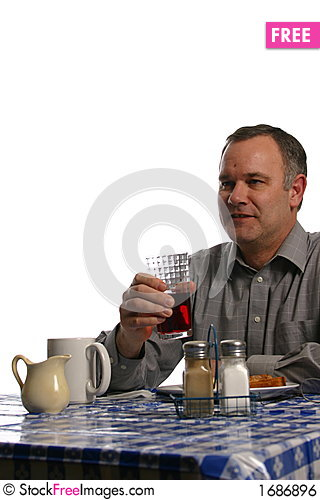 Free Man In Diner Having Lunch Royalty Free Stock Image - 1686896