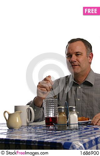Free Man In Diner Stock Photo - 1686900