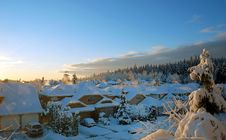 Free Village In A Snowy Winter Stock Photography - 1680702