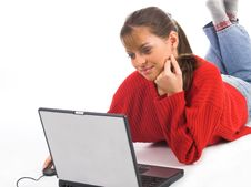 Free Young  Women  Using Laptop Stock Photos - 1680783