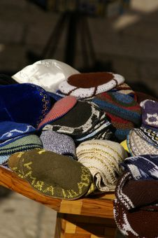 Free Yarmulkes With David S Star Royalty Free Stock Images - 1681049