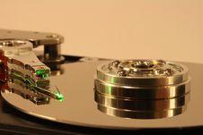 Free Hard Disk Under Green Laser Light Stock Images - 1682354