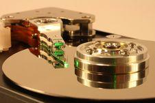 Free Hard Disk Under Green Laser Light Royalty Free Stock Photo - 1682355