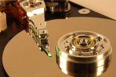 Free Hard Disk Under Green Laser Light Royalty Free Stock Images - 1682359