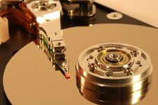 Free Hard Disk Under Red Laser Light Royalty Free Stock Images - 1682719