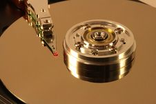 Free Hard Disk Under Red Laser Light Royalty Free Stock Photos - 1682728