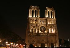 Free Notre Dame At Night Stock Photo - 1682760