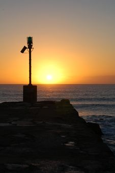 Sunrise, Port Alfred Royalty Free Stock Photo