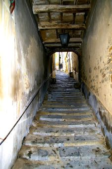 Street And Stairs Royalty Free Stock Photography