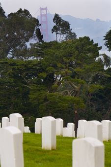 Free San Francisco National Cemetery Royalty Free Stock Image - 1684096