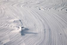 Free Vestige From Ground Wind On Snow Plain Stock Photos - 1684253
