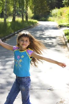 Dancing Joyful Girl Royalty Free Stock Images