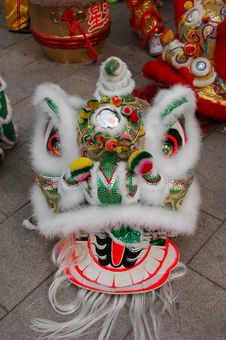 Chinese Traditional Lion Dance Head Royalty Free Stock Photography