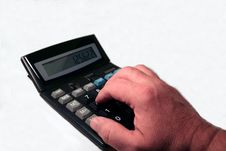 Free Hand At The Calculator Stock Photo - 1686610