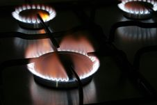 Free Blue Flames Stock Photo - 1687010