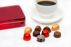 Free Chocolates And Coffee Stock Photo - 1688570
