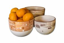 Free Tangerins On Pots Stock Images - 1688984