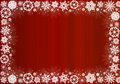 Free White Snowflakes On Red - Christmas Frame Royalty Free Stock Photo - 16800035