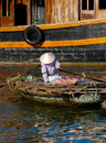 Free Woman On Boat, Floating Market Royalty Free Stock Image - 16800396