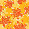 Free Seamless Pattern Yellow Leaves. Stock Photography - 16808692