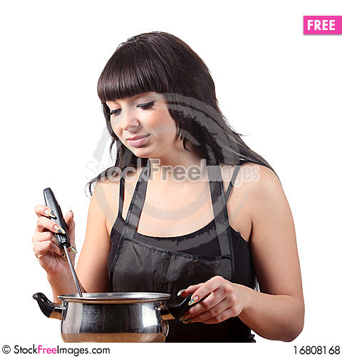 Free Women Cooking Royalty Free Stock Photos - 16808168