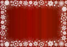 Free White Snowflakes On Red - Christmas Frame Royalty Free Stock Photo - 16800035