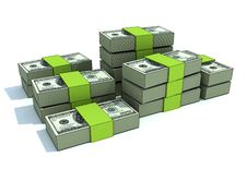 Free Green Money Stacks Stock Image - 16801921