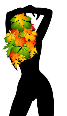 Free Girl In Autumnal Leaves. Royalty Free Stock Photography - 16803857