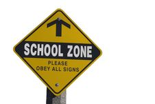 Free School Zone Sign Stock Images - 16803894