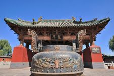 Chinese Temple Architecture And Censer Stock Images