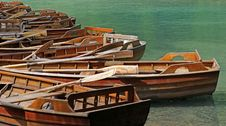 Free Wooden Rowing Boats On The Dock Stock Photo - 16804030