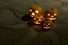 Free Halloween Pumpkins Royalty Free Stock Photography - 16804377