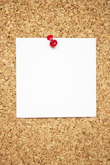 Free Blank Paper On Cork Board Stock Photos - 16804803