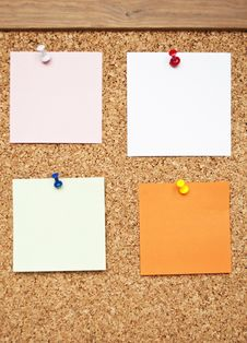 Free Bulletin Board With Reminder Notes Stock Photography - 16804852