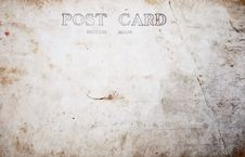 Free Reverse Side Of Blank Postcard Royalty Free Stock Images - 16804969