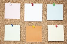 Free Cork Board With Reminder Notes Stock Image - 16805101