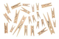 Free Wooden Clothespin Royalty Free Stock Photography - 16805377