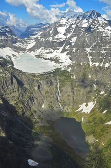 Free Aerial View Of Glacier National Park, Montana Stock Image - 16805391