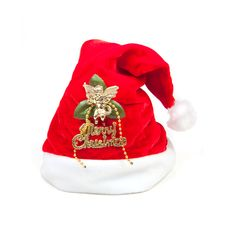 Free Red Santa Claus Hat Isolated On White Background Royalty Free Stock Photography - 16805567