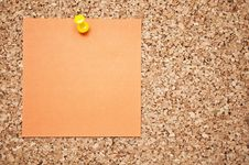 Free Cork Board With Memo Note Royalty Free Stock Image - 16805706