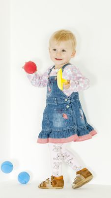 Free Standing Toddler Royalty Free Stock Photos - 16806488