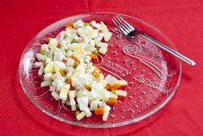 Free Christmas Potato Salad Royalty Free Stock Images - 16806559