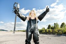 Free Woman With Gas Mask Stock Photography - 16806642