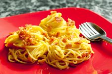 Free Spaghetti Carbonara Royalty Free Stock Photo - 16806675