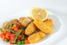 Chicken With Side-dish Royalty Free Stock Photos